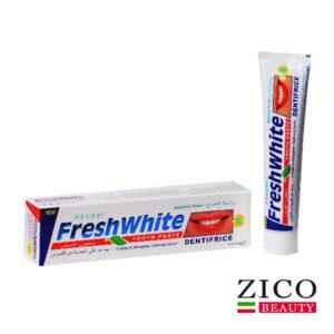 خمیر دندان fresh white با رایحه نعناع