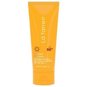 کرم ضد آفتاب لافارر SPF 50 مناسب پوست خشک و حساس