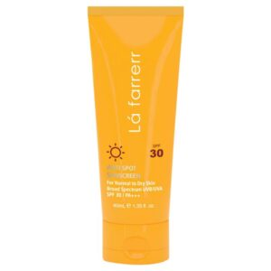 کرم ضدآفتاب لافارر SPF 30 مناسب برای پوست معمولی و خشک