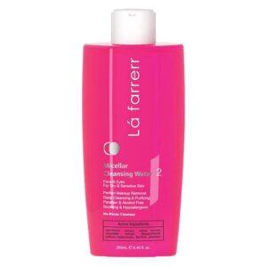 محلول پاک کننده آرایش لافارر مناسب برای پوست حساس و خشک