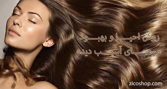 روش های احیا مو و بهبود موهای اسیب دیده